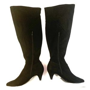Women's size 10 black over the knee boots